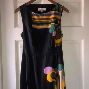 Tibi Silk Black Open Back Sleeveless Silk Dress 6